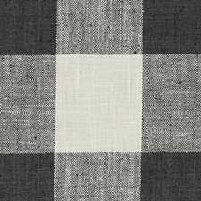 Black/Linen Plaid Drapery and Upholstery Fabric by Duralee