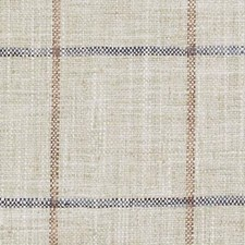 Natural/Blue Plaid Drapery and Upholstery Fabric by Duralee
