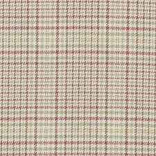 Pink/Green Houndstooth Drapery and Upholstery Fabric by Duralee