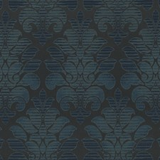 Indigo Damask Drapery and Upholstery Fabric by Duralee