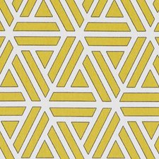 Yellow Abstract Drapery and Upholstery Fabric by Duralee