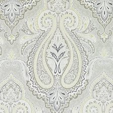 Dove Paisley Drapery and Upholstery Fabric by Duralee