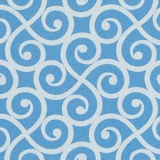 Sky Blue Scroll Drapery and Upholstery Fabric by Duralee