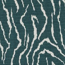 Teal Animal Skins Drapery and Upholstery Fabric by Duralee