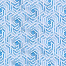 Turquoise Geometric Drapery and Upholstery Fabric by Duralee