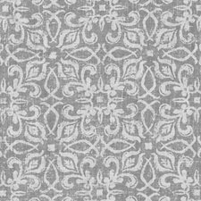 Pewter Floral Small Drapery and Upholstery Fabric by Duralee