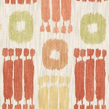 Coral Ethnic Drapery and Upholstery Fabric by Duralee