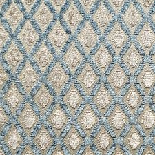 Bleu/Beige Drapery and Upholstery Fabric by Scalamandre