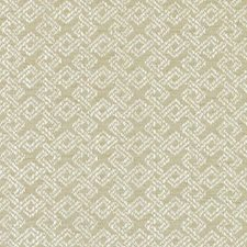 Wheat Geometric Drapery and Upholstery Fabric by Duralee
