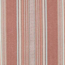 Melon Stripe w Drapery and Upholstery Fabric by Duralee