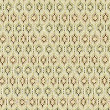 Gold/Red Geometric Drapery and Upholstery Fabric by Duralee