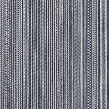 Navy Stripe Drapery and Upholstery Fabric by Duralee