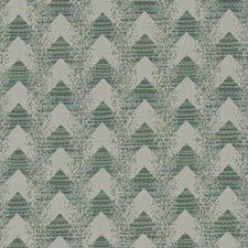 Sea Green Herringbone Drapery and Upholstery Fabric by Duralee