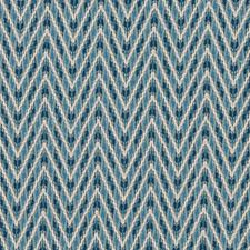 Peacock Herringbone Drapery and Upholstery Fabric by Duralee