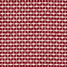 Poppy Red Chenille Drapery and Upholstery Fabric by Duralee