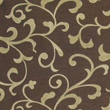 Chocolate Gold Drapery and Upholstery Fabric by RM Coco