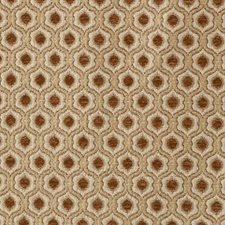 Paprika Medallion Drapery and Upholstery Fabric by Duralee