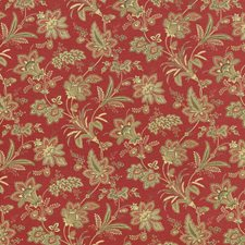 Vintage Red Drapery and Upholstery Fabric by Kasmir