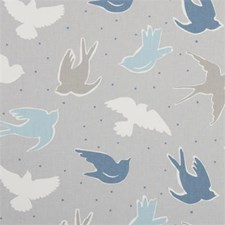 Mist Birds Drapery and Upholstery Fabric by Clarke & Clarke