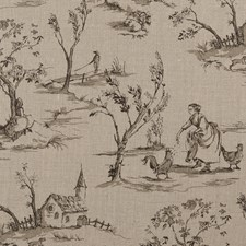 Linen Animal Drapery and Upholstery Fabric by Clarke & Clarke