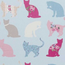 Sky Animal Drapery and Upholstery Fabric by Clarke & Clarke