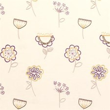 Elderberry Embroidery Drapery and Upholstery Fabric by Clarke & Clarke