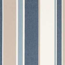 Denim Stripe Drapery and Upholstery Fabric by Clarke & Clarke