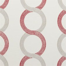 Red Dots Drapery and Upholstery Fabric by Clarke & Clarke