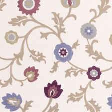 Orchid Crewel Drapery and Upholstery Fabric by Clarke & Clarke