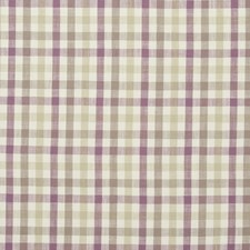 Orchid Plaid Drapery and Upholstery Fabric by Clarke & Clarke