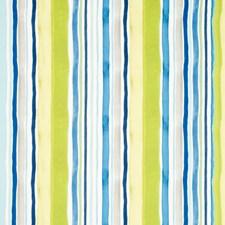 Aqua/Citrus Drapery and Upholstery Fabric by Clarke & Clarke