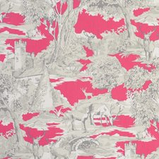 Toile Raspberry Drapery and Upholstery Fabric by Clarke & Clarke