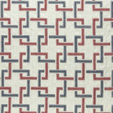 Indigo/Red Weave Drapery and Upholstery Fabric by Clarke & Clarke