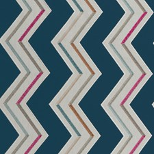 Indigo/Cerise Weave Drapery and Upholstery Fabric by Clarke & Clarke