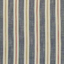Midnight/Spice Stripes Drapery and Upholstery Fabric by Clarke & Clarke