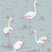 Wht/Fuch On Sfoam Animal Drapery and Upholstery Fabric by Cole & Son