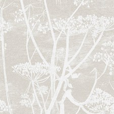 Wht Taupe Botanical Drapery and Upholstery Fabric by Cole & Son