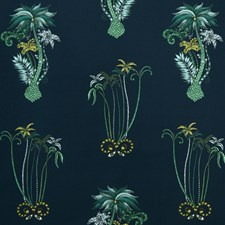 Navy Drapery and Upholstery Fabric by Clarke & Clarke