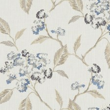 Denim Embroidery Drapery and Upholstery Fabric by Clarke & Clarke