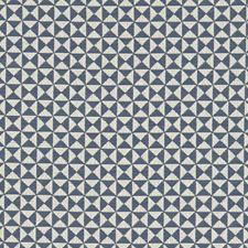 Midnight Geometric Drapery and Upholstery Fabric by Clarke & Clarke