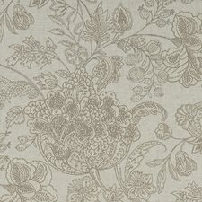 Linen Floral Large Drapery and Upholstery Fabric by Clarke & Clarke