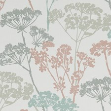 Pastel Botanical Drapery and Upholstery Fabric by Clarke & Clarke