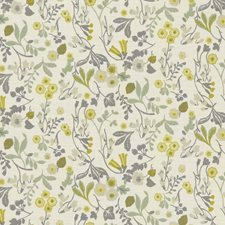 Forest/Chartreuse Drapery and Upholstery Fabric by Clarke & Clarke