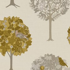 Ochre Drapery and Upholstery Fabric by Clarke & Clarke