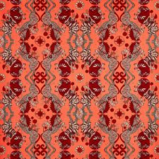 Coral Animal Drapery and Upholstery Fabric by Clarke & Clarke