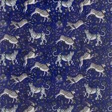 Blue Animal Drapery and Upholstery Fabric by Clarke & Clarke