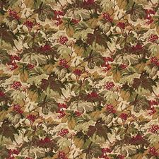 Olive/C Print Drapery and Upholstery Fabric by Mulberry Home