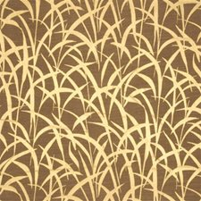 Gold Print Drapery and Upholstery Fabric by Mulberry Home