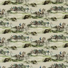 Racing Green Print Drapery and Upholstery Fabric by Mulberry Home