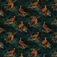 Teal Animal Drapery and Upholstery Fabric by Mulberry Home